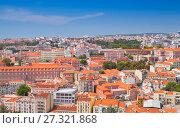 Купить «Cityscape of Lisbon in sunny summer day», фото № 27321868, снято 13 августа 2017 г. (c) EugeneSergeev / Фотобанк Лори