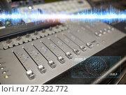 Купить «music mixing console at sound recording studio», фото № 27322772, снято 18 августа 2016 г. (c) Syda Productions / Фотобанк Лори