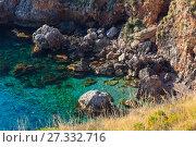 Купить «Zingaro sea coast, Sicily, Italy», фото № 27332716, снято 17 июня 2017 г. (c) Юрий Брыкайло / Фотобанк Лори