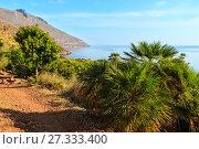 Купить «Zingaro sea coast, Sicily, Italy», фото № 27333400, снято 17 июня 2017 г. (c) Юрий Брыкайло / Фотобанк Лори