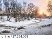 Купить «Льдины и сосульки», фото № 27334068, снято 22 декабря 2012 г. (c) Baturina Yuliya / Фотобанк Лори