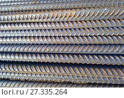 Купить «Metal fittings for reinforced concrete», фото № 27335264, снято 25 октября 2015 г. (c) Леонид Еремейчук / Фотобанк Лори
