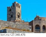 Cathedral of Santa Maria Assunta in Erice, Sicily, Italy. (2017 год). Стоковое фото, фотограф Юрий Брыкайло / Фотобанк Лори