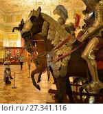 Купить «В рыцарском зале Эрмитажа. Петербург», эксклюзивное фото № 27341116, снято 26 ноября 2017 г. (c) Александр Алексеев / Фотобанк Лори