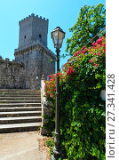 Купить «Norman castle in Erice, Sicily, Italy», фото № 27341428, снято 16 июня 2017 г. (c) Юрий Брыкайло / Фотобанк Лори