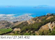 Купить «Trapani view from Erice, Sicily, Italy», фото № 27341432, снято 16 июня 2017 г. (c) Юрий Брыкайло / Фотобанк Лори