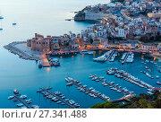 Купить «Castellammare del Golfo sea bay, Sicily, Italy», фото № 27341488, снято 17 июня 2017 г. (c) Юрий Брыкайло / Фотобанк Лори