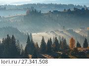 Купить «First rays of sun in Carpathians.», фото № 27341508, снято 18 октября 2017 г. (c) Юрий Брыкайло / Фотобанк Лори