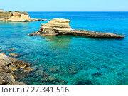 Купить «Beach Torre Sant'Andrea, Salento, Italy», фото № 27341516, снято 7 июня 2017 г. (c) Юрий Брыкайло / Фотобанк Лори