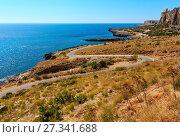 Купить «Bue Marino Beach, Macari, Sicily, Italy», фото № 27341688, снято 16 июня 2017 г. (c) Юрий Брыкайло / Фотобанк Лори