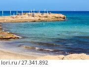 Купить «Beach Punta della Suina, Salento, Italy», фото № 27341892, снято 8 июня 2017 г. (c) Юрий Брыкайло / Фотобанк Лори