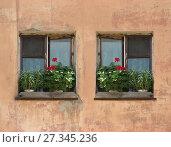 Купить «Windows in old wall», фото № 27345236, снято 28 июля 2008 г. (c) Александр Подшивалов / Фотобанк Лори