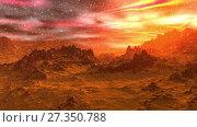 Купить «Alien Planet. Mountain. Animation. 4K», видеоролик № 27350788, снято 5 января 2018 г. (c) Parmenov Pavel / Фотобанк Лори