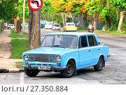 Купить «Lada 21011», фото № 27350884, снято 6 июня 2017 г. (c) Art Konovalov / Фотобанк Лори