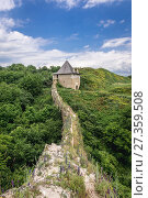 Купить «Walls and one of tha gates of Fortress in Khotyn city, located in Chernivtsi Oblast of western Ukraine.», фото № 27359508, снято 13 июня 2017 г. (c) easy Fotostock / Фотобанк Лори