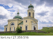 Купить «Orthodox church of Alexander Nevsky in Khotyn Fortress, located in Chernivtsi Oblast of western Ukraine.», фото № 27359516, снято 13 июня 2017 г. (c) easy Fotostock / Фотобанк Лори