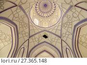 A Colourful Interior Inside A Mosque At The Memorial Complex Of Chor Bakr, Bukhara, Uzbekistan. Стоковое фото, фотограф Grant Rooney / age Fotostock / Фотобанк Лори