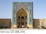 The Entrance To The Kalyan Mosque, Bukhara, Uzbekistan. Стоковое фото, фотограф Grant Rooney / age Fotostock / Фотобанк Лори