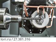 Купить «grinding machine tool for sharpening», фото № 27381316, снято 16 мая 2017 г. (c) Дмитрий Калиновский / Фотобанк Лори