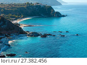 Купить «Tyrrhenian sea landscape, Calabria, Italy», фото № 27382456, снято 19 июня 2017 г. (c) Юрий Брыкайло / Фотобанк Лори