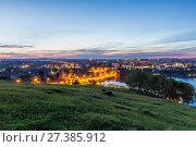 Купить «Ночной вид с Лисьей горы на город Нижний Тагил», фото № 27385912, снято 21 июня 2014 г. (c) Евгений Ткачёв / Фотобанк Лори