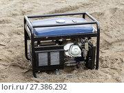 Купить «Gasoline generator», фото № 27386292, снято 16 августа 2014 г. (c) Евгений Ткачёв / Фотобанк Лори