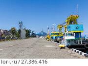 Купить «Морской порт Батуми. Республика Грузия», фото № 27386416, снято 10 июля 2015 г. (c) Евгений Ткачёв / Фотобанк Лори