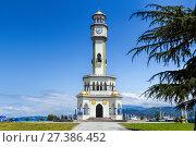 Купить «Chacha Tower. The tower height of 25 meters», фото № 27386452, снято 10 июля 2015 г. (c) Евгений Ткачёв / Фотобанк Лори