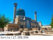 Купить «The Mausoleum Gur-Emir, Samarkand, Uzbekistan», фото № 27388996, снято 19 августа 2016 г. (c) Валерий Смирнов / Фотобанк Лори