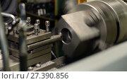 Купить «Processing of cast iron parts on a lathe», видеоролик № 27390856, снято 10 ноября 2017 г. (c) Андрей Радченко / Фотобанк Лори