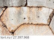 Купить «Древняя полигональная кладка, Дельфы, Греция», фото № 27397968, снято 2 января 2018 г. (c) Ирина Яровая / Фотобанк Лори