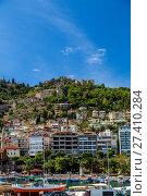 Купить «Крепость и порт Аланьи, Турция», фото № 27410284, снято 15 октября 2014 г. (c) Ольга Сейфутдинова / Фотобанк Лори