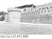 Купить «Fortress of the Old Sity Baku. Historical core of Azerbaijan Baku», иллюстрация № 27411008 (c) Евгений Ткачёв / Фотобанк Лори