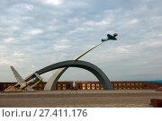 Купить «Мемориал «Защитникам неба Отечества». Город Тула», фото № 27411176, снято 1 сентября 2017 г. (c) Pukhov K / Фотобанк Лори