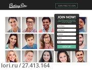 Купить «Subscription form on dating site », фото № 27413164, снято 17 декабря 2018 г. (c) Wavebreak Media / Фотобанк Лори