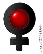 Купить «Symbol für weiblich - 3d illustration», фото № 27421644, снято 23 января 2018 г. (c) easy Fotostock / Фотобанк Лори