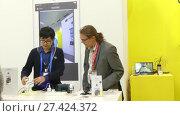 Купить «Pavilion Insta360 at IFA, Messe, Berlin, Germany», видеоролик № 27424372, снято 25 мая 2017 г. (c) BestPhotoStudio / Фотобанк Лори