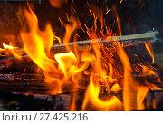 Яркие языки пламени (огонь) Стоковое фото, фотограф E. O. / Фотобанк Лори