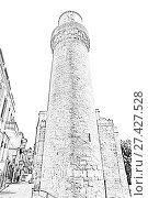 Купить «Девичья башня в Старом городе Баку. Азербайджан», иллюстрация № 27427528 (c) Евгений Ткачёв / Фотобанк Лори
