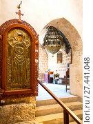 Купить «Aya Napa, Greece, Cyprus island, the church of the Monastery (14th century)», фото № 27441048, снято 26 ноября 2016 г. (c) age Fotostock / Фотобанк Лори