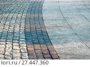 Купить «Bended paved footpath», фото № 27447360, снято 20 сентября 2019 г. (c) easy Fotostock / Фотобанк Лори
