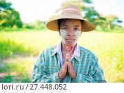 Купить «Traditional mature Asian female farmer greeting», фото № 27448052, снято 24 января 2018 г. (c) easy Fotostock / Фотобанк Лори