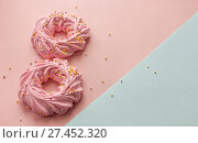 Number eight pink cookies and background. Стоковое фото, фотограф Anton Chechotkin / Фотобанк Лори