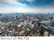 Купить «Aerial landscape of Bangkok», фото № 27463132, снято 13 января 2018 г. (c) Михаил Коханчиков / Фотобанк Лори