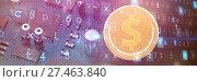 Купить «Composite image of bitcoins», фото № 27463840, снято 16 января 2019 г. (c) Wavebreak Media / Фотобанк Лори
