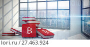 Купить «Composite image of bitcoin symbol», фото № 27463924, снято 28 мая 2020 г. (c) Wavebreak Media / Фотобанк Лори