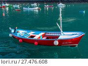 Купить «Small trawler on tour to whale watching», фото № 27476608, снято 29 февраля 2020 г. (c) age Fotostock / Фотобанк Лори