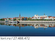 Купить «Szczecin, Old Town on the Odra River», фото № 27488472, снято 15 октября 2019 г. (c) easy Fotostock / Фотобанк Лори