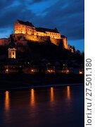 Купить «Castle Burghausen at night», фото № 27501180, снято 19 февраля 2020 г. (c) age Fotostock / Фотобанк Лори