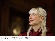 Купить «Кандидат в Президенты Финляндии Laura Huhtasaari», фото № 27506792, снято 28 января 2018 г. (c) Stockphoto / Фотобанк Лори